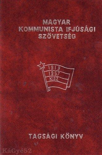KISZ tagsági könyv