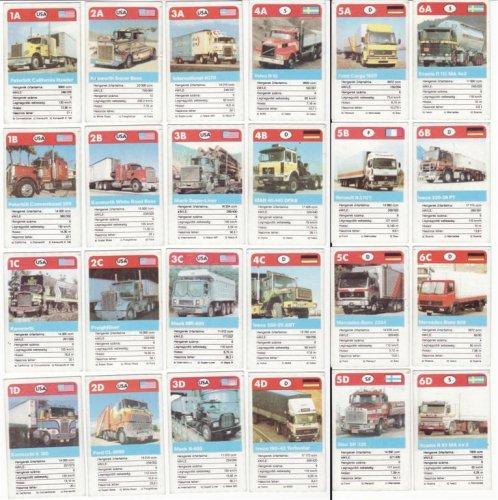 Kamionok mini kártyajáték