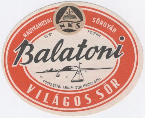 Balatoni világos sör 0,45l