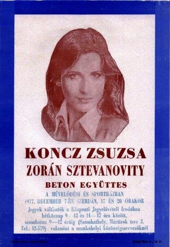 Koncz Zsuzsa miniplakát