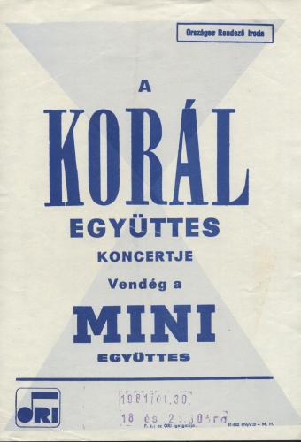 Korál miniplakát