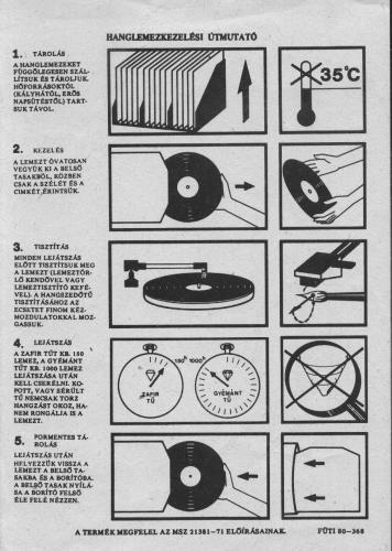 Hanglemez kezelési útmutató