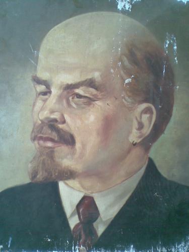 Lenin olajfestmény