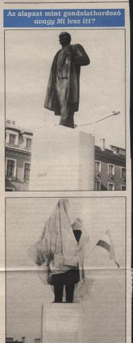 Lenin elvtárs letakarva