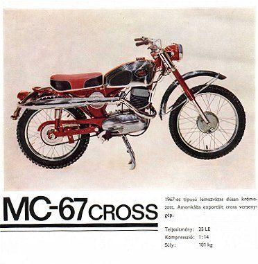 Pannonia MC-67 Cross motorkerékpár