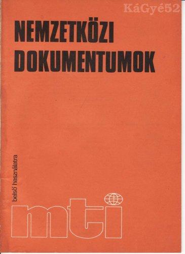Nemzetközi dokumentumok