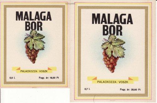 Malaga bor italcímke