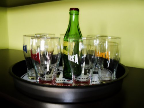 Márka üdítő poharak