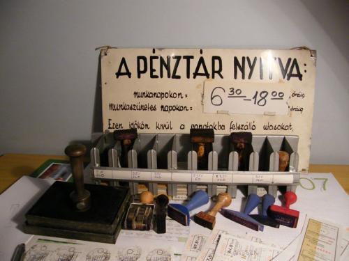 vasúti pénztár eszközei