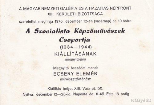 Kiállításra szóló meghívó