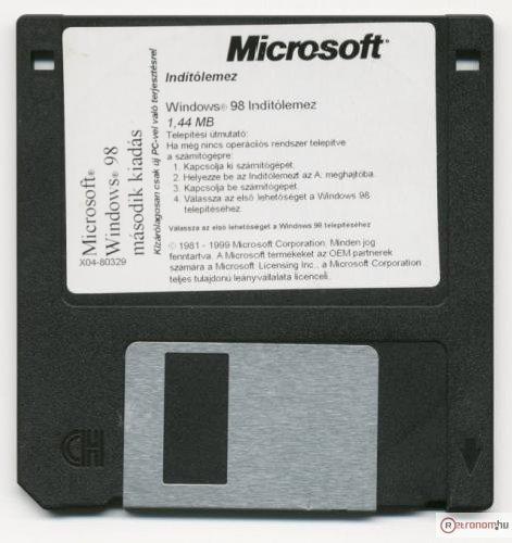 Microsoft Windows 98 indító lemez