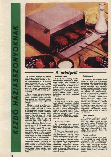 Minigrill receptek