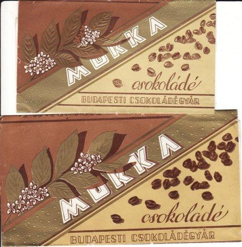 Mokka csokoládé csokipapír