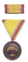 Munkásőr kitüntetés 10 és 15 éves szolgálatért