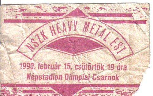 NSZK heavy metal est koncertjegy