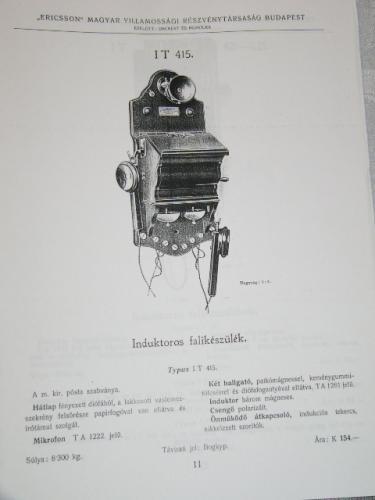 Fali induktoros telefon (LB-I) Ericsson