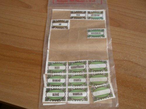 Konyhai címkék