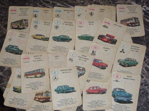 autós kártya (piros hátlap)