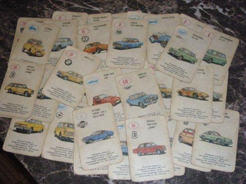 autós kártya (kék hátlap)