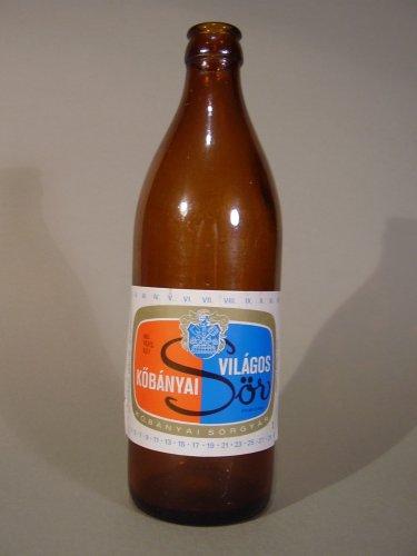 Kőbányai világos sörösüveg 0,5l-s