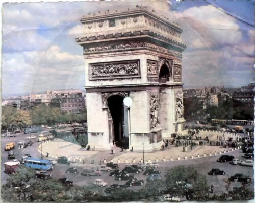 Párizs hanglemez képeslap