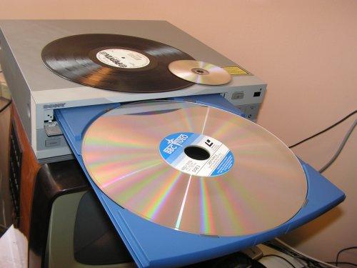 """Képlemezjátszó """"óriás DVD"""" :)"""