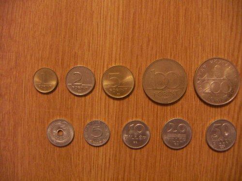 Forint fillér érmék