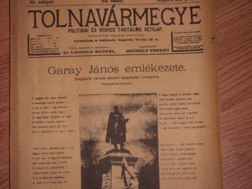 Tolna Vármegye újság
