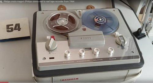 Philips sztereó orsós csöves magnó