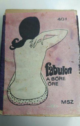 Fabulon gyufa reklám