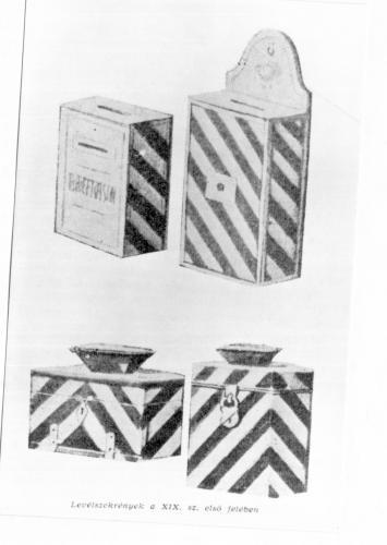 Postaládák XIX. szd. első fele