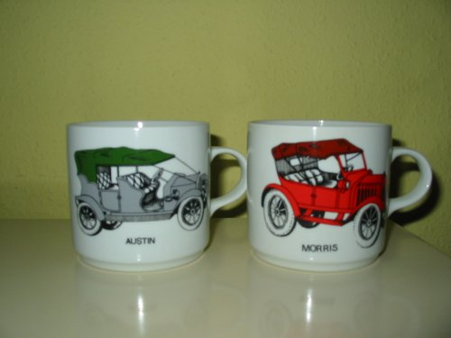 Bögre régi autó modellekkel