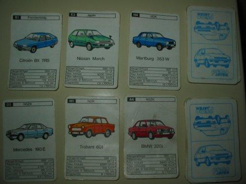 Autóskártya régi autó modellekkel