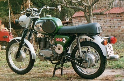 Pénzügyőr szolgálati MZ motorkerékpár