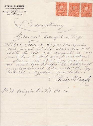 Referencia levél