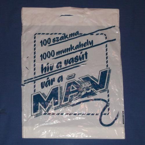 MÁV reklámzacskó