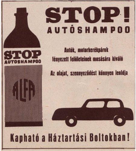 Stop autósampon reklám