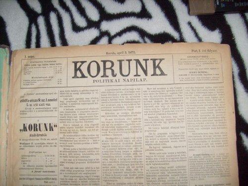 Korunk  Politikai Napilap  1872.