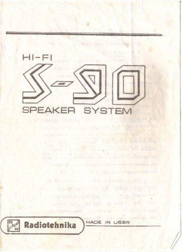 Radiotehnika S-90 gyári leírás+kapcsolás