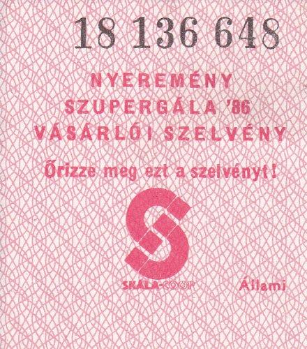 Skála nyeremény szupergála '86