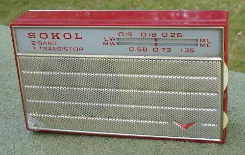 Sokol rádió (piros)
