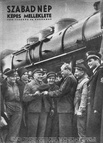 Sztahánovista mozdonyvezetők a MÁVAG-ban