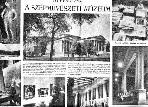 Szépművészeti Múzeum ötven éves