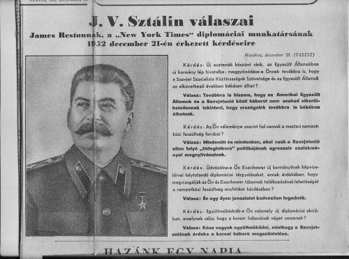 Sztálin válaszai a New York Timesnak