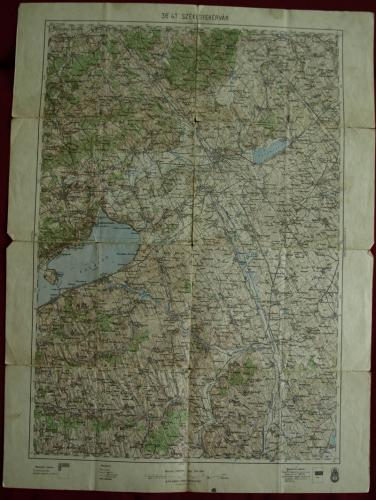 Székesfehérvár környéke térkép