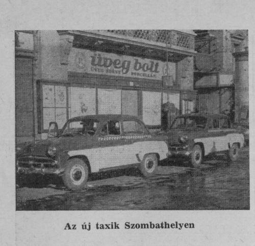 Moszkvics Taxik Szombathely Főterén