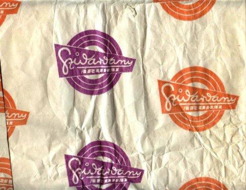 Szivárvány áruház csomagolópapir