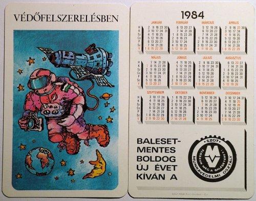 Szot kártyanaptár 2: Védőfelszerelésben. 1984