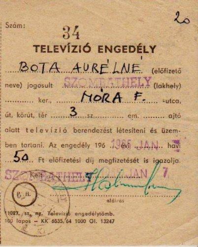 Tévé engedély