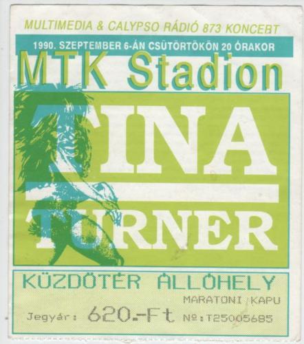 Tina Turner koncertjegy